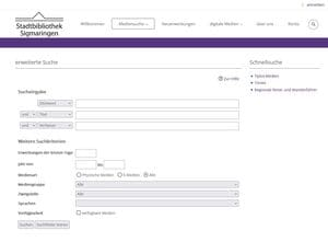 Stadtbibliothek Internetkatalog Screenshot